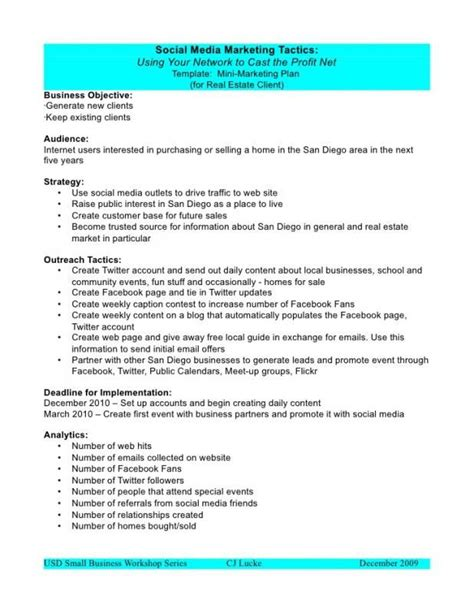 Social Media Proposal Template Marketing Plan Template Marketing Proposal Dan Marketing Smm Strategy Template