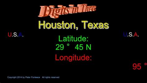 latitude and longitude map of texas houston texas latitude and longitude digits in three