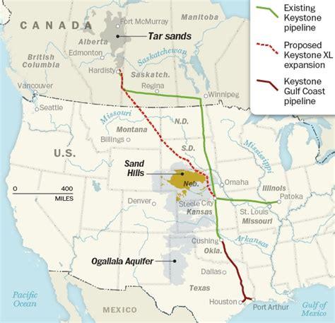 keystone pipeline map state department releases keystone xl environmental impact statement the washington post