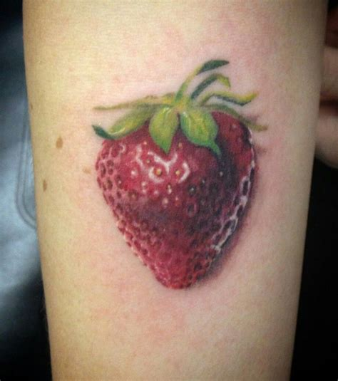 strawberry tattoos strawberry on my forearm fresh danielle houston at