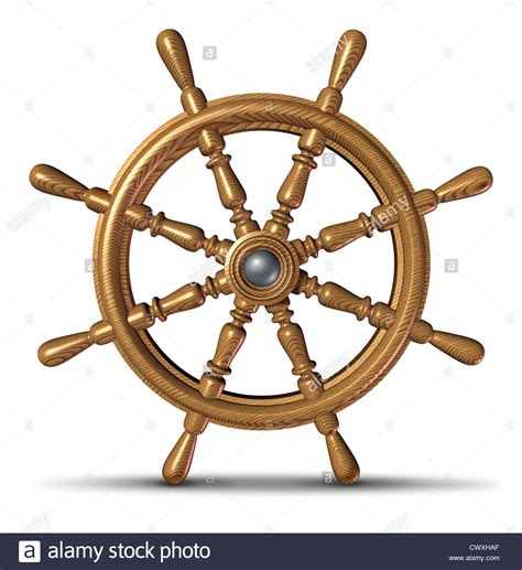 nautical boat steering wheel boat and ship steering wheel as a nautical control symbol