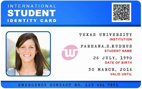 Student Card Template by Id Card Coimbatore Ph 97905 47171 International