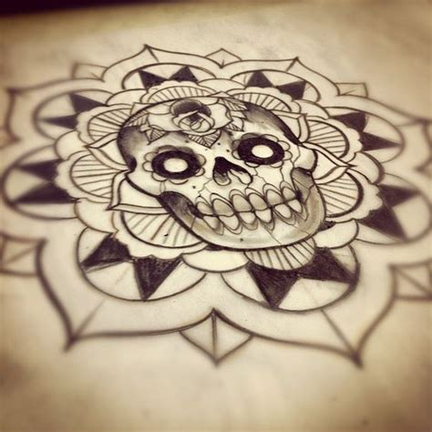 tattoo mandala skull tattoo sketches mandalas and mandala tattoo on pinterest