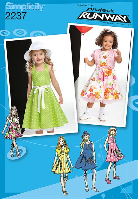 pattern runway review simplicity 2237 child s toddlers dresses project runway