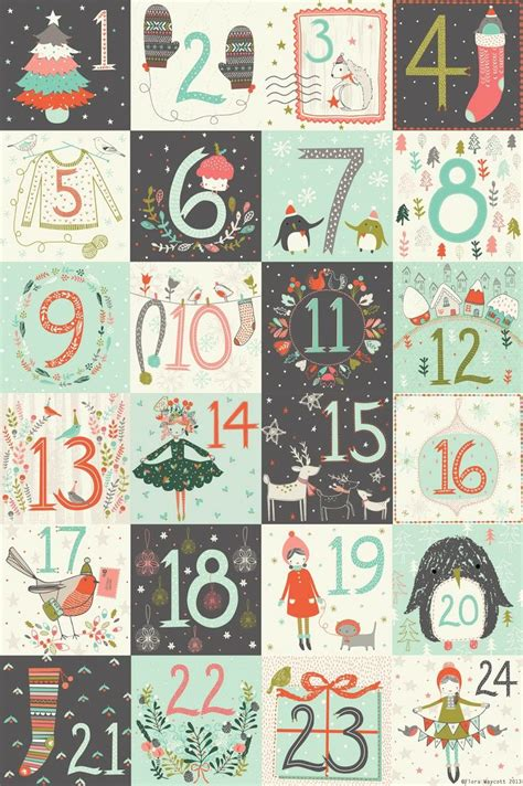 printable advent calendar pdf christmas advent calendar numbers printable pinteres