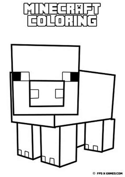 printable minecraft coloring pig create minecraft fan art minecraft coloring