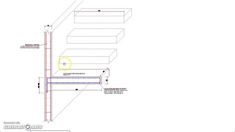 concrete stair section cantilever stairs steps cross section reinforcement detail