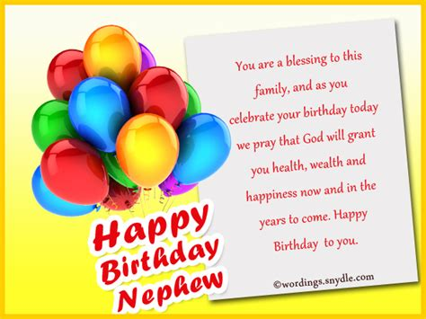 Happy Birthday Wishes For A Nephew Nephew Birthday Messages Happy Birthday Wishes For Nephew