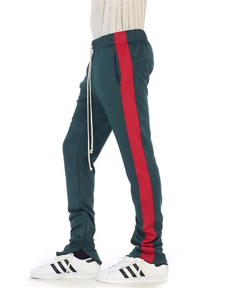 Drawstring Side Stripe Sweatpants eptm s side stripe ankle zip drawstring techno