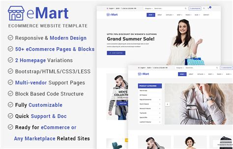 50 Best Free Bootstrap Html5 Templates 2018 Uideck Ecommerce Website Templates Free In Html5 Css3