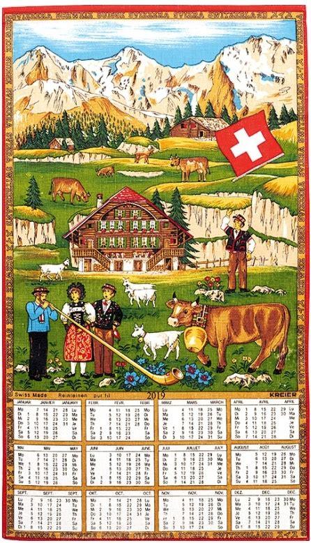 Calendrier 2019 Suisse Calendrier Suisse En Tissus 2019 Bazarouchy