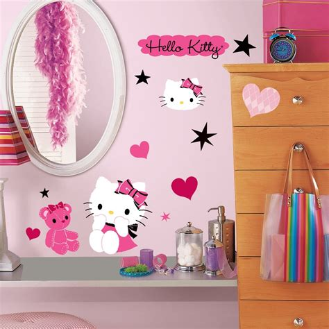 hello kitty stickers for bedroom walls 38 new hello kitty couture wall decals girls bedroom