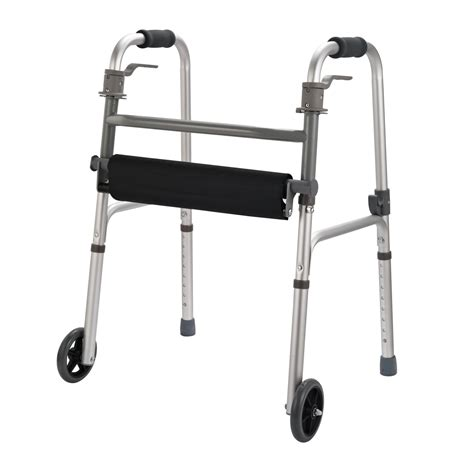 Handicap Stools With Wheels by Homcom Folding Mobility Rollator Walker W 2 Wheels And Stool