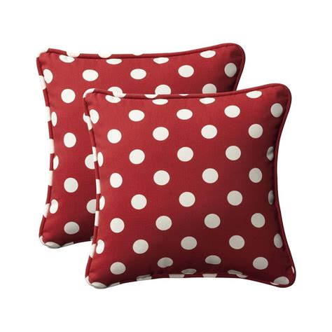 Outdoor Pillows Lowes by Shop Pillow Polka Dot 2 Pack Square Outdoor