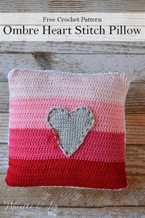 free crochet pattern heart pillow free pattern beautiful crochet pillow with a heart