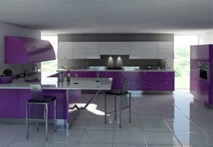 kitchen furniture images purple kitchens