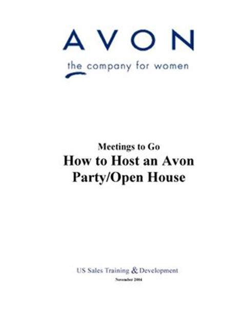calam 233 o e pdfs how to host an avon open house