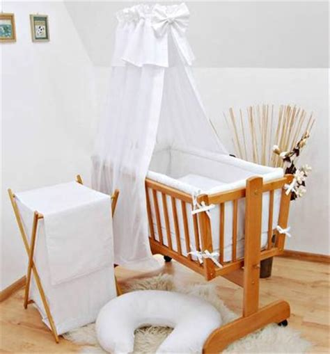 Rocking Baby Crib 7 Crib Baby Bedding Set 90x40 Canopy Fits Rocking Swinging Cradle Plain Ebay