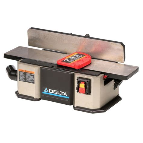 delta bench jointer delta 12 amp 6 in corded jointer 37 071 the home depot