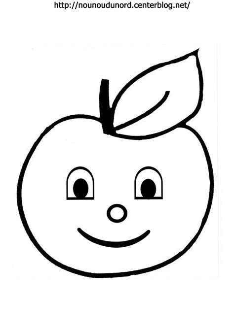 dessin pomme a imprimer gratuit