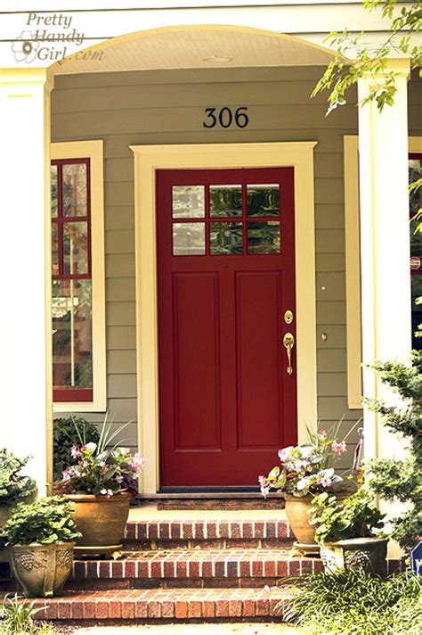 red front door sherwin williams antique red home go bold or go home show your true colors pretty handy girl