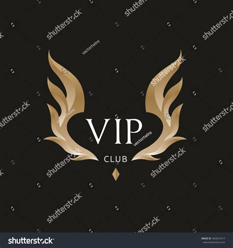 Vip Club Logowing Logovector Logo Template Stock Vector 365815514 Shutterstock Nightclub Logo Template
