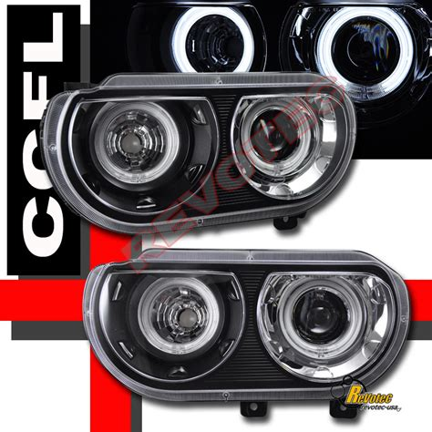 2008 2012 dodge challenger ccfl halo projector headlights