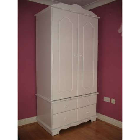 White Wardrobe With Drawers Large White Wardrobe With Drawers