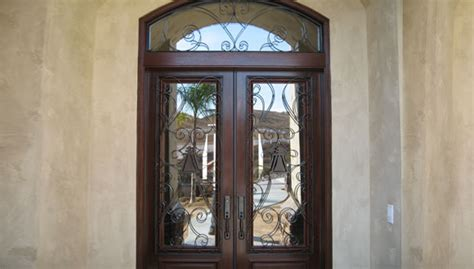 Decorative Front Doors Decorative Wrought Iron Entry Doors Orange County Ca Custom Made Iron Glass Doors