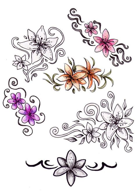 tattoo font design jasmine flower 25 best flower sleeve design images on