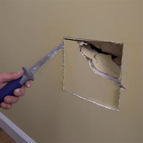 Fix Hole In Wall by How To Patch And Repair Drywall