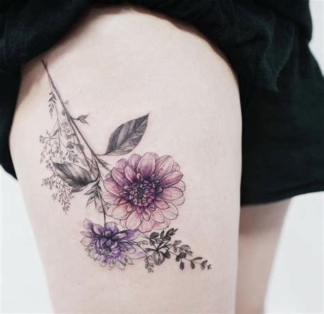 thigh tattoo tumblr 25 best ideas about flower thigh tattoos on