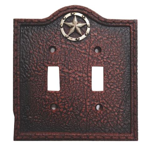 Circle Star Western Decorative Double Switch Plate Wall Plate Wall Switch Plates Decorative
