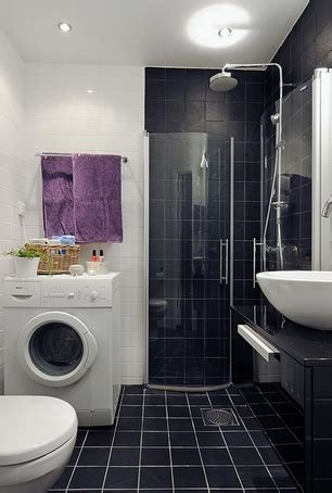 black tiled bathrooms designs
