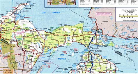 large map of michigan highway and road michiganfree maps of us