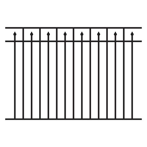 home depot fence sections allure aluminum 4 5 ft h x 6 ft w aluminum black