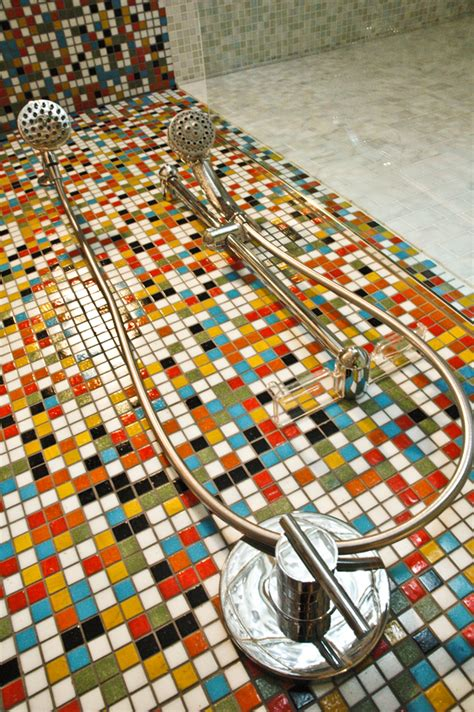 Bathroom Floor Tiling Ideas Mosaic Tile Bathroom Photos Shower Mosaic Tile Mosaic