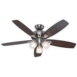 52 quot brushed nickel ceiling fan with light remote