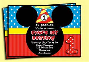 mickey mouse invitation printable thatpartychick cards