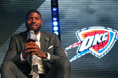 okc thunder fan gear okc thunder in the news how paul george will adapt in okc