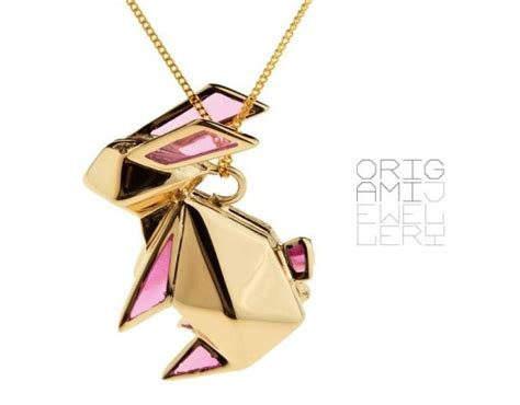 Origami Rabbit Necklace - origami rabbit necklace en themag