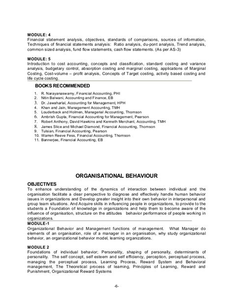 Annamalai Mba Syllabus Pdf by Mba Program Bangalore Syllabus Course