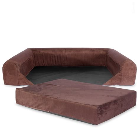 extra large dog couch bed dog bed sofa lounge orthopedic memory foam brown extra