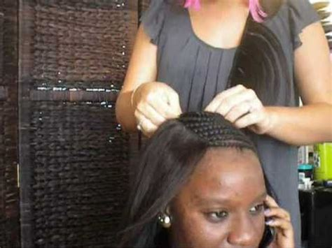 full head sew in maintenance braid pattern for full head sew in weave short hairstyle