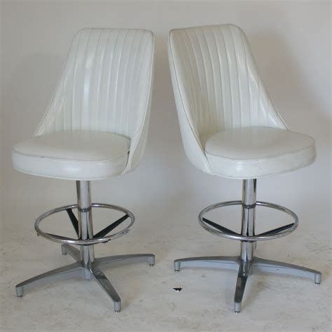 Vintage Counter Stools With Backs by 2 Vintage Bar Counter Stools High Back Ebay