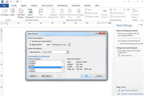 How To Do Avery Labels In Word