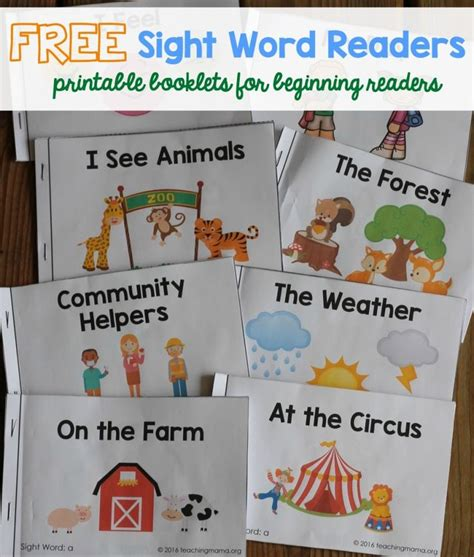 printable kindergarten books free printable beginning reading books for kindergarten
