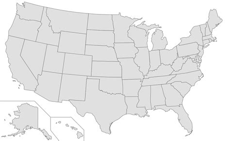 map of us states unlabeled best photos of us map vector usa map with state lines