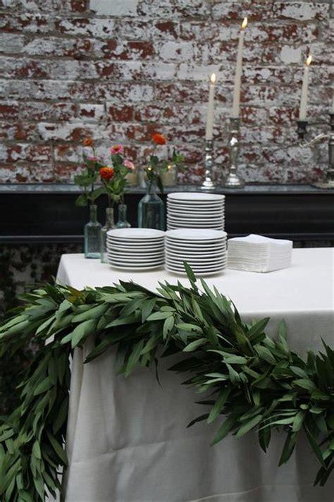 christmas garland on buffett pics best 25 table garland ideas on wedding table garland greenery garland and
