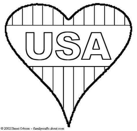 american flag heart coloring page 148 best images about holiday 4th of july coloring art